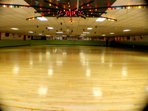 The Skate Floor at Roller Have Fun Center